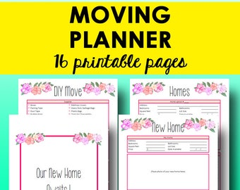 happy planner moving printable moving planner checklist etsy