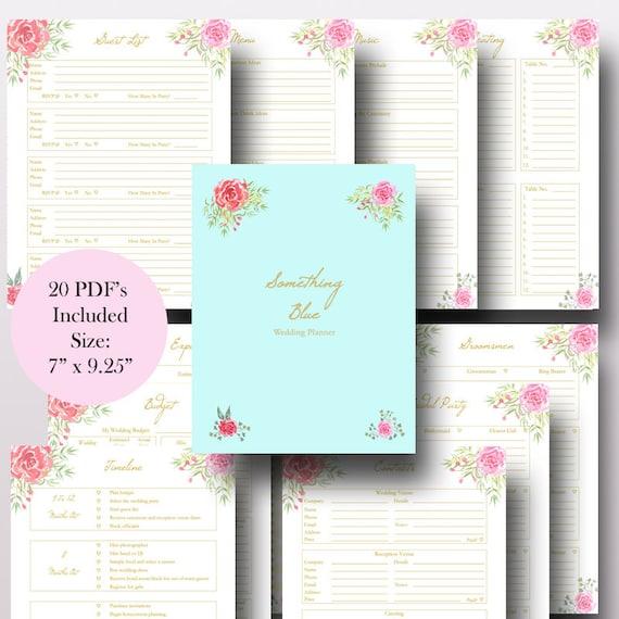 Happy Planner Wedding Inserts Printable
