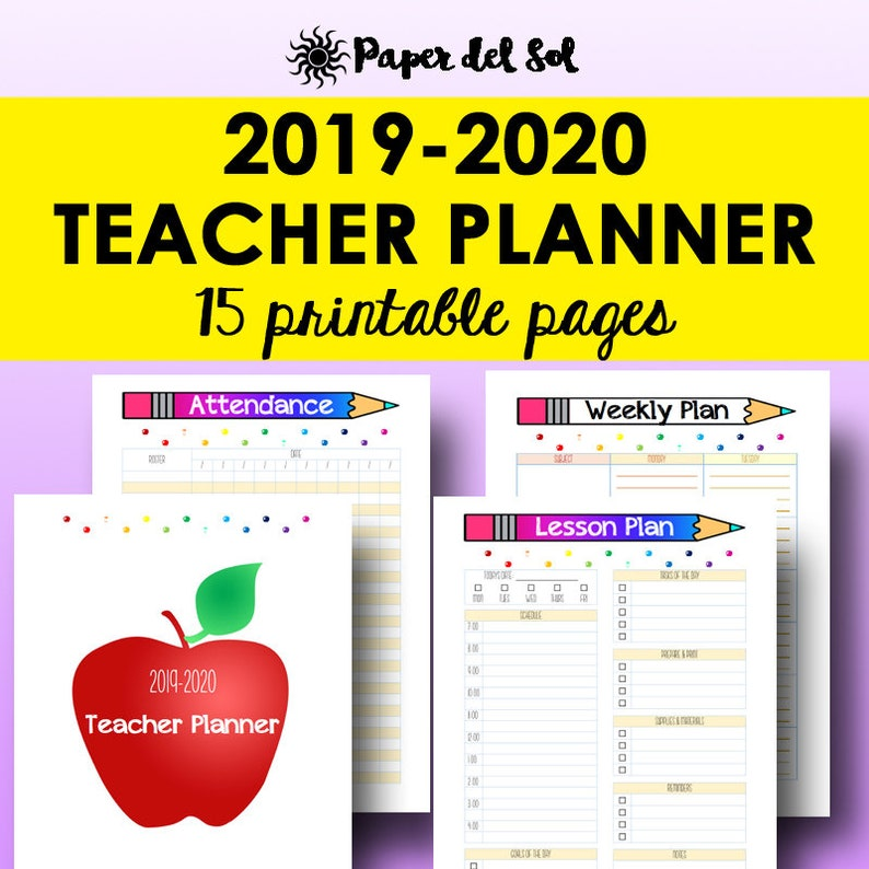 picture relating to Teacher Plan Book Printable referred to as Instructor Planner 2019 2020, Trainer Lesson Planner, Homeschool Lesson Method Reserve, 2020 Printable Homeschool Application, Letter Dimension Prompt Obtain