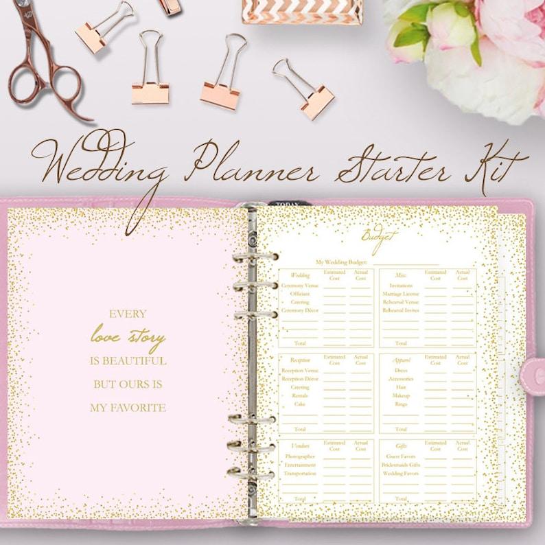Wedding Planning Book.Glitter Pink Wedding Planner Book Wedding Planning Book Planner Printable Planning Binder Printables Checklist Plan Instant Download