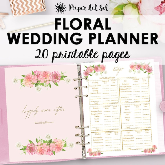 wedding planner printables wedding planning checklist etsy