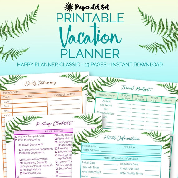 picture relating to Printable Road Trip Planner called Pleased Planner Generate Magazine, Family vacation Planner Printable, Push Itinerary Printable, Highway Push Planner, Holiday Designing, Fast Obtain