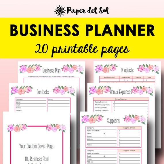 business planner printable direct sales binder business etsy