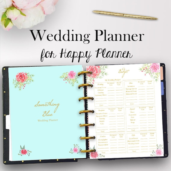 happy planner wedding inserts wedding planner printable etsy