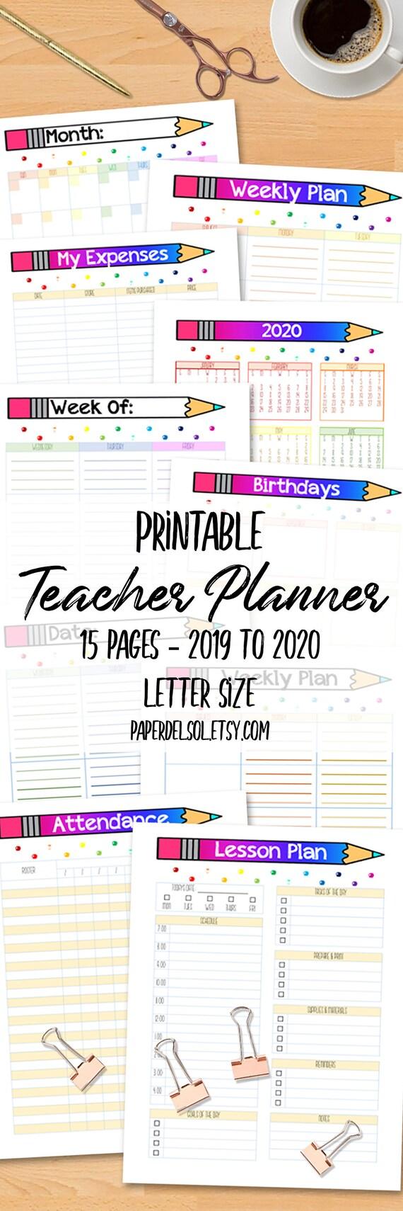 teacher lesson planner printable