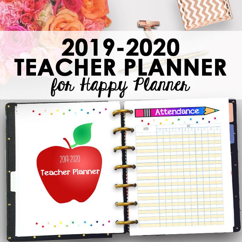 Quotes Teacher Calendar 2019 2020: Happy Planner Teacher Lesson Planner 2019 2020 Homeschool