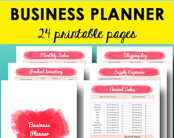 Direct Sales Planner Printable, Business Planner, Small Business Plan, Expense Tracker, Home Sales Tracker, Letter Size, Instant Download
