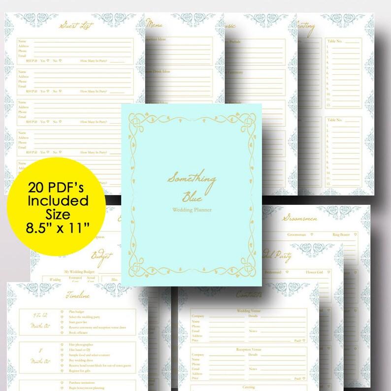 Wedding Planner Printable Wedding Planner Book Binder | Etsy