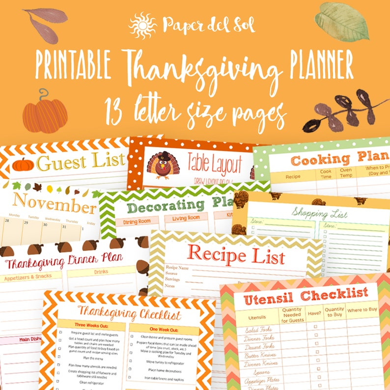 photo relating to Thanksgiving Planner Printable titled Thanksgiving Planner Printable, Holiday vacation Planner 2019, Thanksgiving Binder Printables 2019, Holiday vacation Printable, Letter Measurement, Prompt Down load