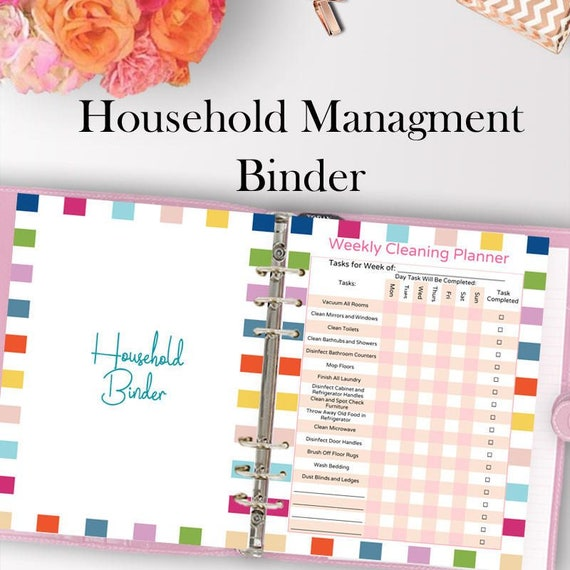 Home management binder home organization binder household etsy image 0 maxwellsz