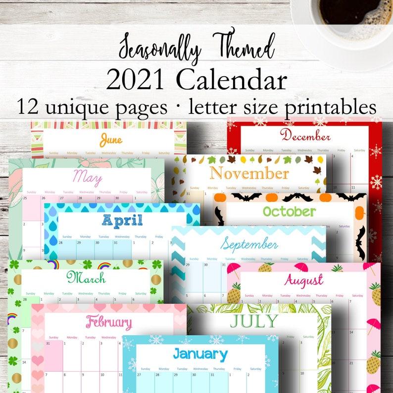 Printable Desk Calendar 2021 Wall Calendar Printable ...