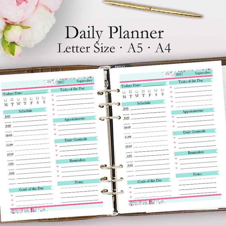 photo about Daily Planner Template referred to as Editable Day-to-day Planner Template PDF, Each day Planner Printable PDF, Appointments Template Printables, Working day Program, Letter A5 A4, Prompt Down load