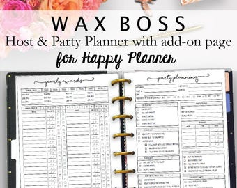 Wax Boss Business Planner for Happy Planner, Wax Boss Party Planner, Consultant and Sales Planning, Classic Happy Planner, Instant Download