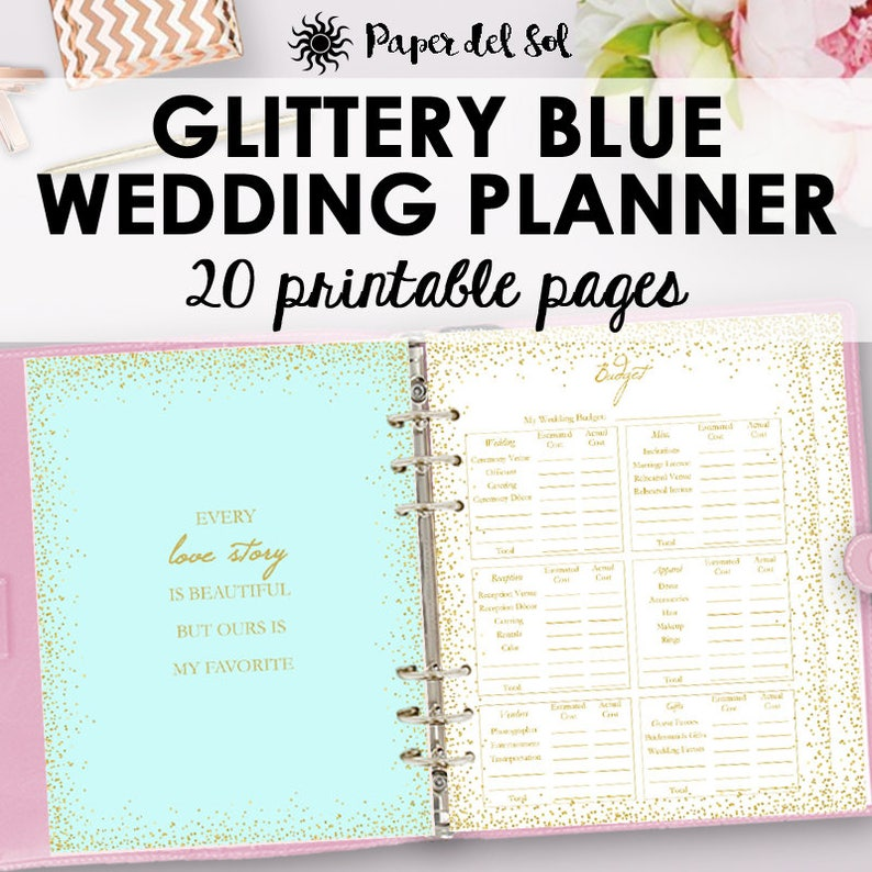 graphic relating to Printable Wedding Planning named Marriage Planner Printable, Wedding ceremony Creating Record, Planner PDF, Binder Printables, Gold Coming up with Printables Letter Dimension Instantaneous Obtain
