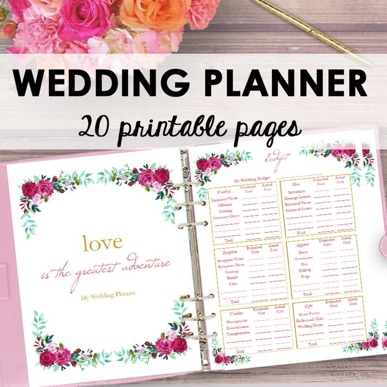 graphic about Printable Wedding Planning identify Wedding ceremony Planner Printable, Wedding day Planner E book, Binder Printables, Developing Ebook, Honeymoon Method, Binder Printable, Letter Instantaneous Obtain