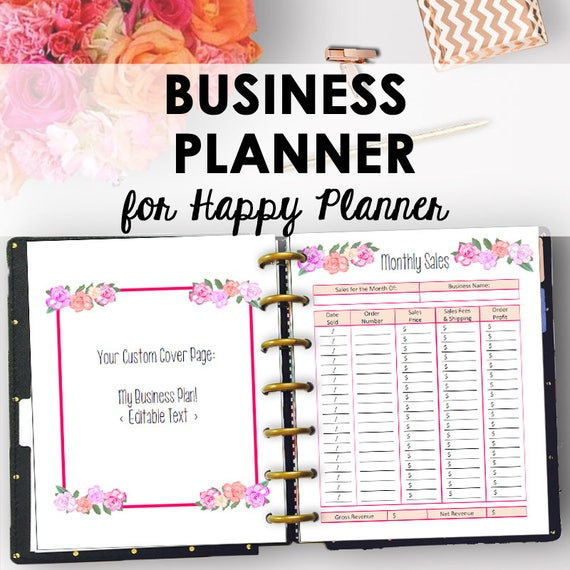 business plan inserts for happy planner printable direct etsy