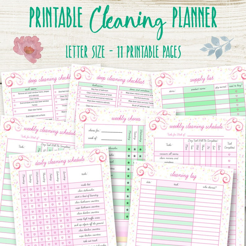 photo about Printable Cleaning Schedule named Cleansing Plan, Cleansing Planner Printable, Cleansing Planner Printables Dwelling Organizer Property Planner Printable Chart Quick Down load