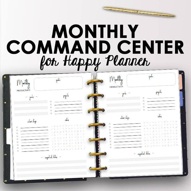 photo about Happy Planner Printable named Regular monthly Joyful Planner Printable Inserts, Efficiency Month to month Planner Printables 2019, Thirty day period Program, 7 x 9 Content Software, Mambi, Fast Obtain