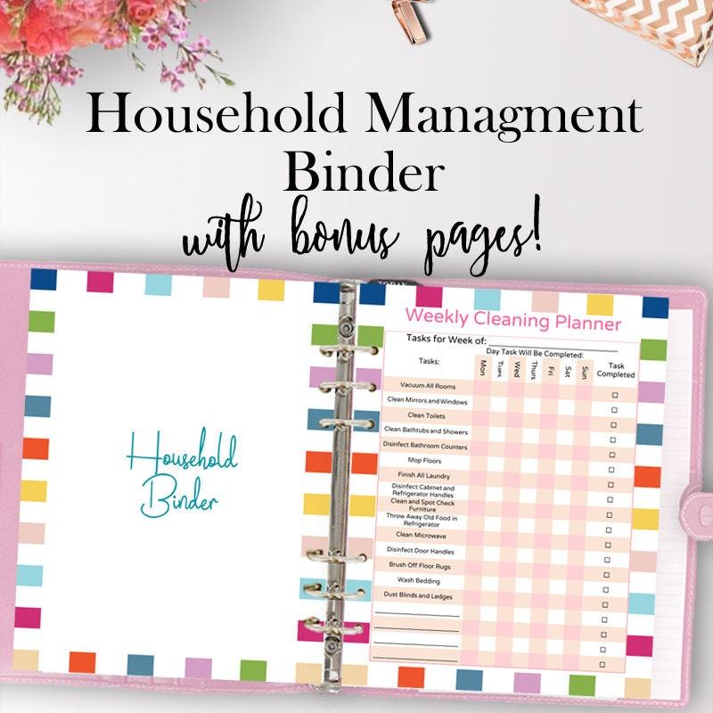 Home Management Binder Home Planner Printable Household