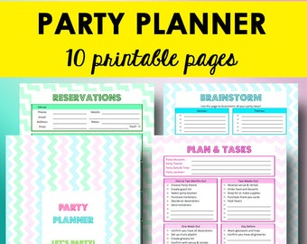 Party Planning Printables, Event Planning Checklist, Party Planner Printable, Birthday Planner Printables, Letter Size, Instant Download