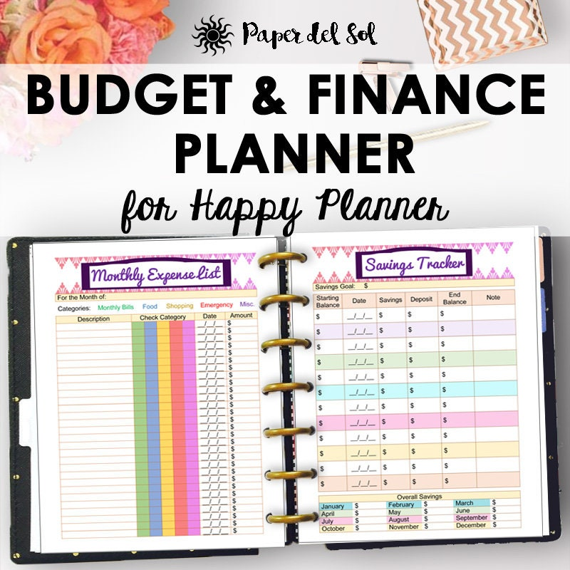 This is a graphic of Striking Free Happy Planner Printables