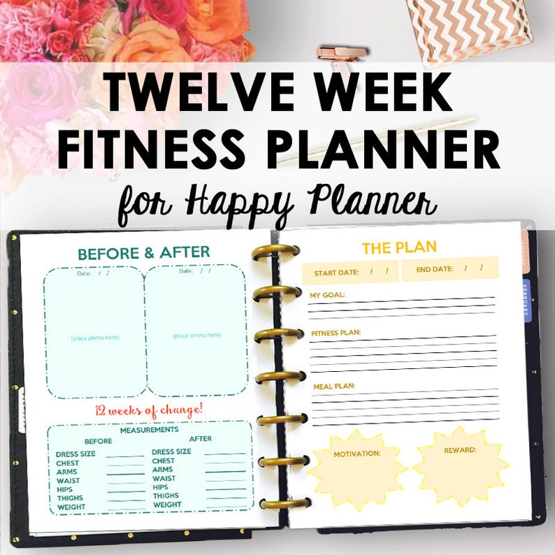 photograph about Printable Fitness Journals identify Satisfied Planner Conditioning Magazine and Fat Decline Planner for Pleased Planner Printable Health and fitness Planner Printable Exercise Magazine Inserts Down load