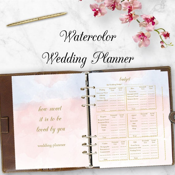 Wedding Planner Downloadable Wedding Planner Book PDF | Etsy