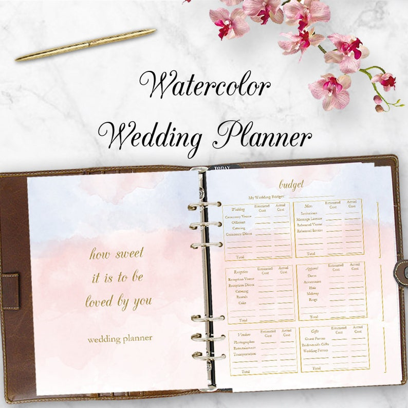 image about Printable Wedding Planning called Marriage Planner Downloadable Marriage ceremony Planner Reserve, PDF Designing Listing, Spending plan Planner Printables, Do-it-yourself Bride Letter Sizing Immediate Down load