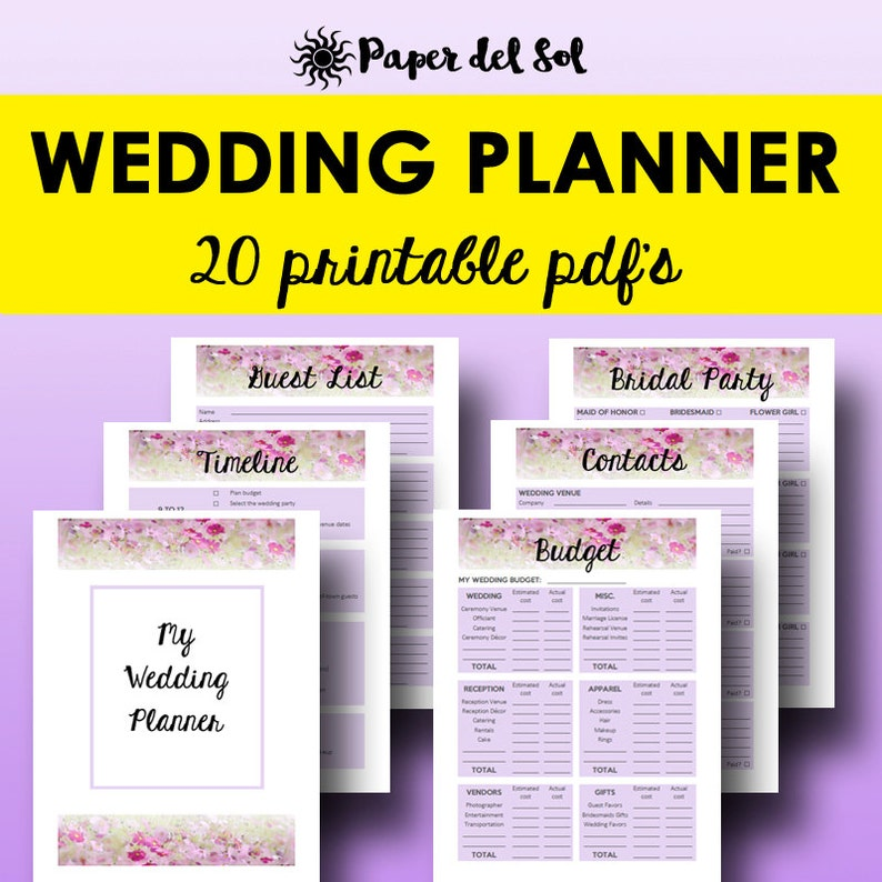 image about Wedding Planner Book Printable called Marriage ceremony Planner Ebook PDF, Printable Marriage Planner Printable, Designing Ebook, Developing Record, Binder Printables Letter Instantaneous Down load