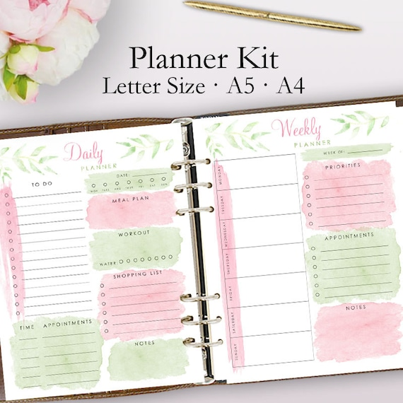 2019 Planner Printable Daily Planner Pages Weekly Planner ...