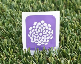 Flower Chrysanthemum nail stencils/nail vinyl