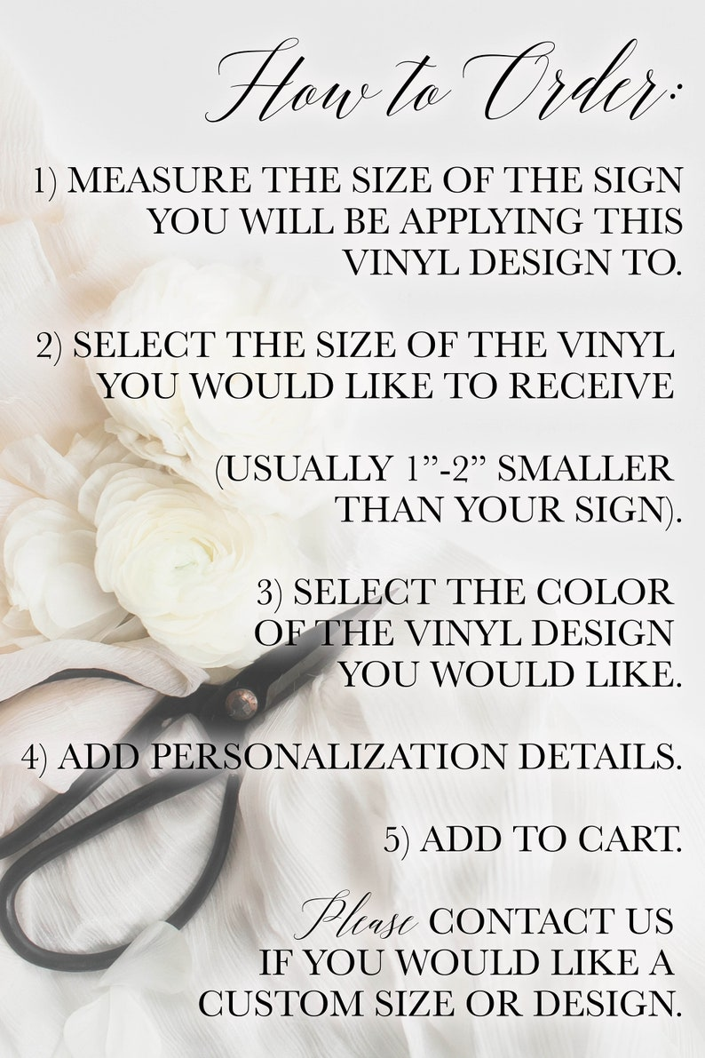 Reception TULIP: Custom Welcome Family Name Vinyl DIY Wedding Decor Shower Personalized Decorations Engagement Custom Sign Decal
