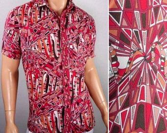 936548c057a10 Vintage Rare 1960s Mens EMILIO PUCCI Psychedelic OpTiC Op ArT Mod Cotton  Shirt XL 50
