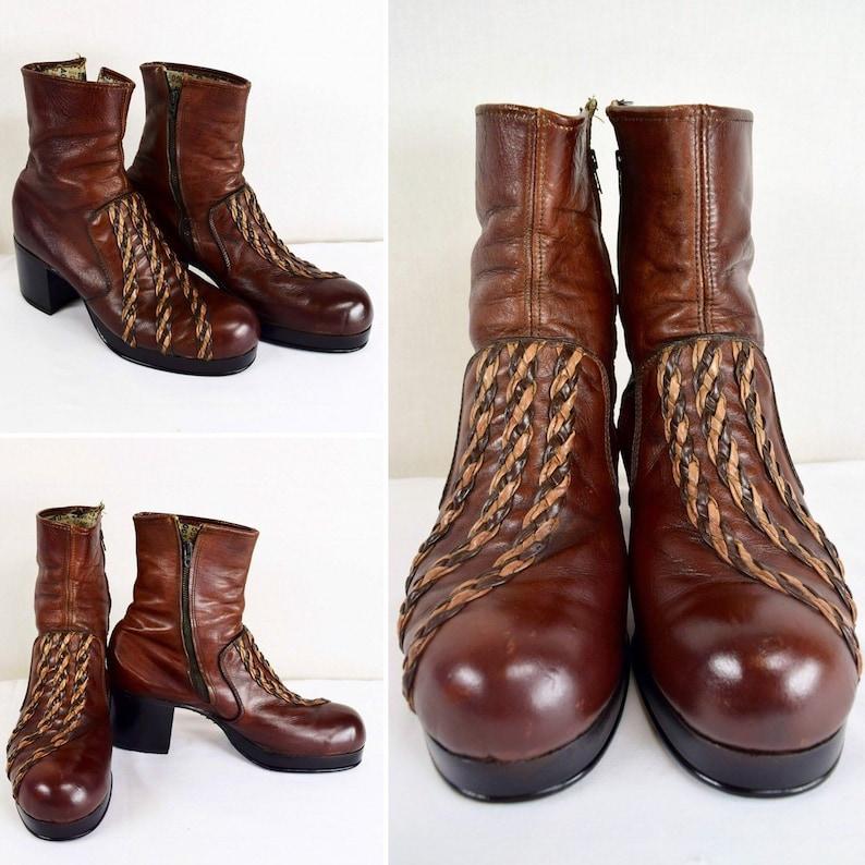 c7e3e977e68 Vintage 70 s Flagg bros. Men s 10 Platform Disco Boots