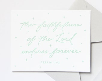 8-Pack Faithfulness / Psalm 117:2 Letterpress Note Card