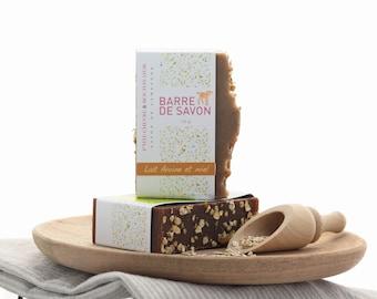 Dessert Savon au Lait de Chèvre- Barre de Savon Naturel - Idéal pour peau sensible - Soin de peau