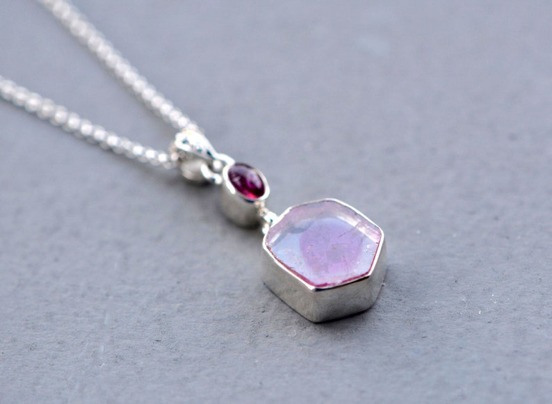 Holiday Gift Wife October Birthstone Jewelry Gift for Girlfriend Watermelon Tourmaline /& Pink Tourmaline Pendant Pink Gemstone Necklace
