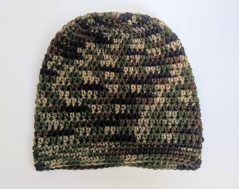 2a87816bdb0 Men s Camo Beanie. Hunting Hat. Hunting Gear. Skull Cap. Camouflage. Gift  for Him.