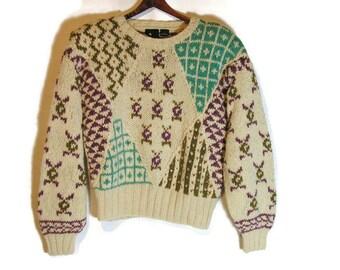 d930561e49 Women s Vintage Sweater Liz Sport Sweater with Shoulder Pads 90 s Retro  Sweater Vintage Sweaters Over-Sized 90 s Sweater Wool Blend Sweater