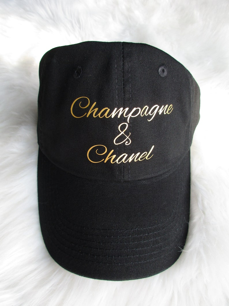 844ea4db5e0 Champagne and Chanel Baseball Cap Designer Inspired Dad