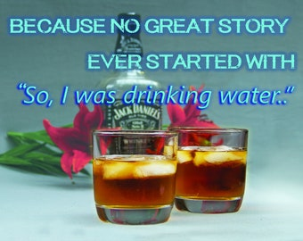 Great Whiskey Story.  Blank inside