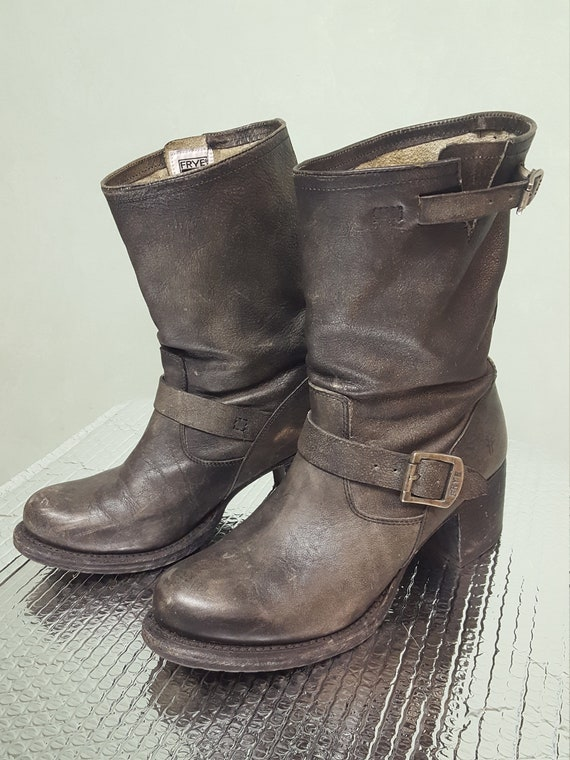 Frye Engineer Biker Boots size US W9.5 EU 40