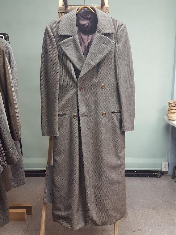 Armani 38L Wool Twill Top Coat, Over Coat Trench C
