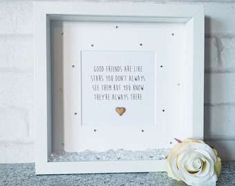 c34af1452194 Good friends are like stars   friends frame   friendship frame   best friend  gift   friend frame   present for best friend   bestie
