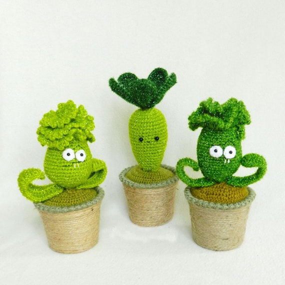 Crochet Amigurumi Various Plants vs zombies   Darmiani Design   570x570