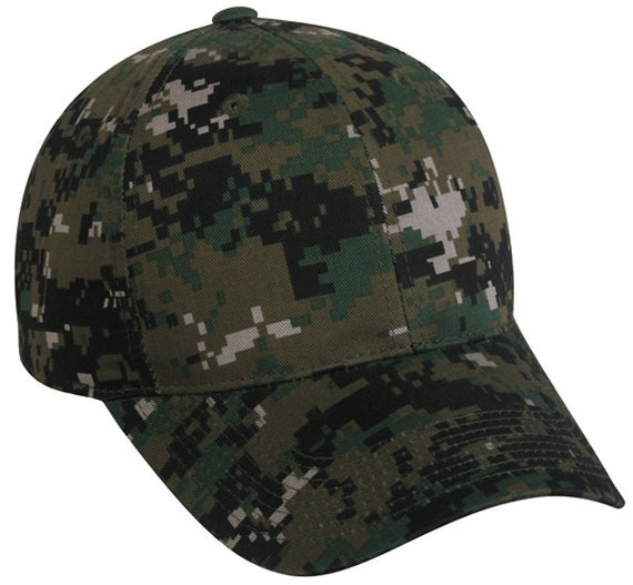 4147dacdf61d7 Custom Embroidered Digital Camo Hat   Woodland Camo   Blank