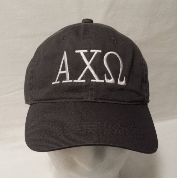 a7990c48b3c Greek Letter Embroidered Hat   Sorority Hat   Fraternity Hat