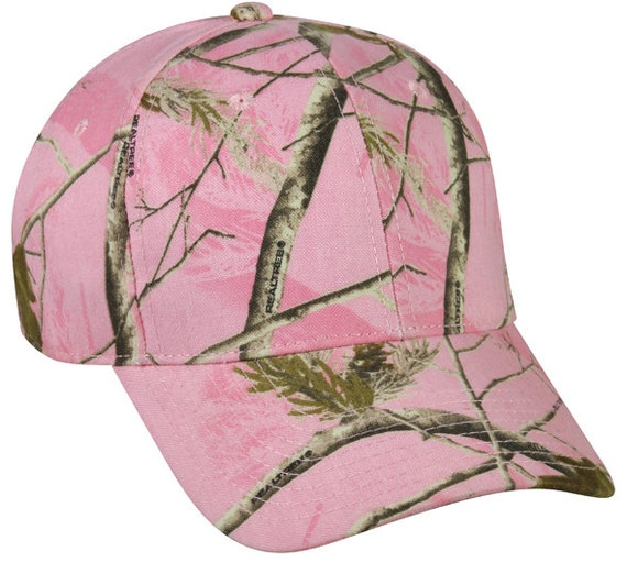 2c44ad84c Blank Camo Hat / Ladies Fit Hat / Pink Camo Hat / Realtree Camo / Blank Hat  / Custom Embroidered Hat / Mom Hat