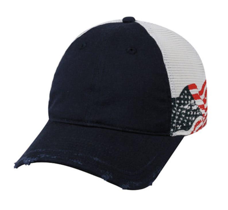 899b473d4ccb Patriotic Hat   USA Flag Hat   American Flag Hat   Frayed