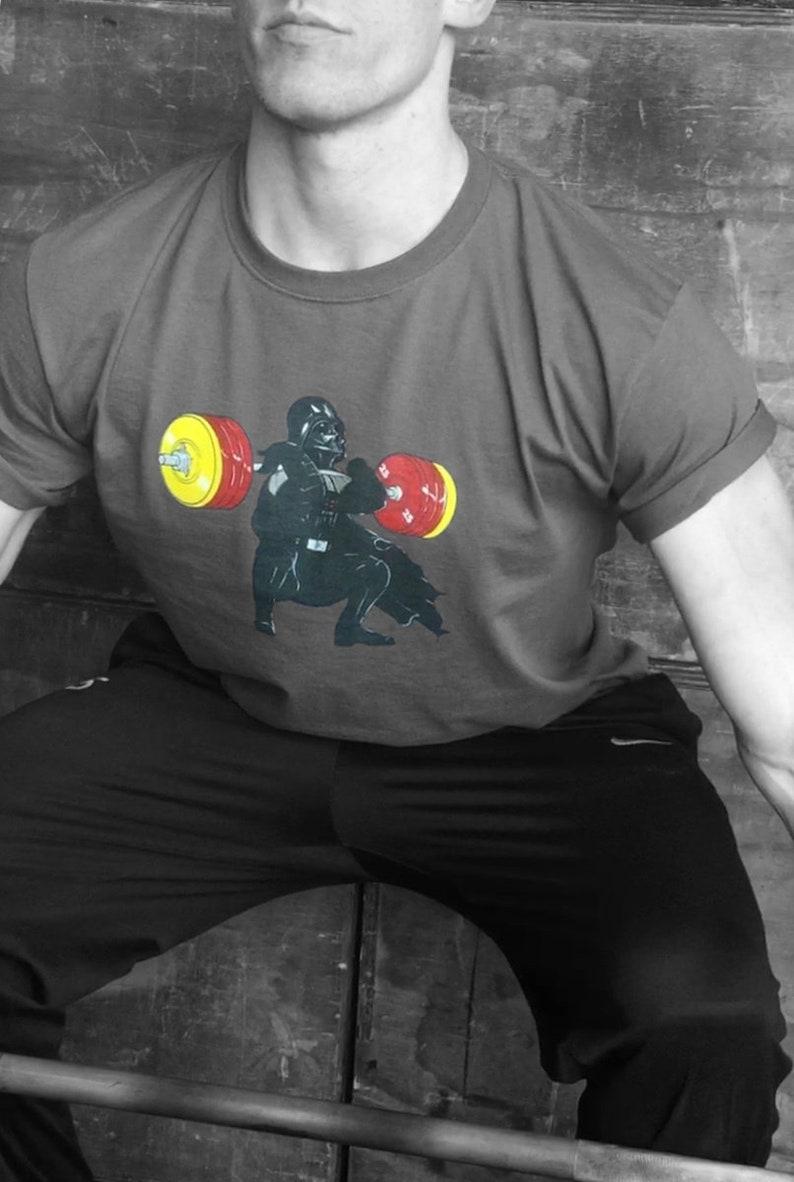 50f5b2744 Unique Star Wars Darth Vader Weightlifting Mens T-shirt in | Etsy